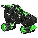 Pacer GTX 500 Roller Skate Black/Lime Size Mens 4/Ladies 5
