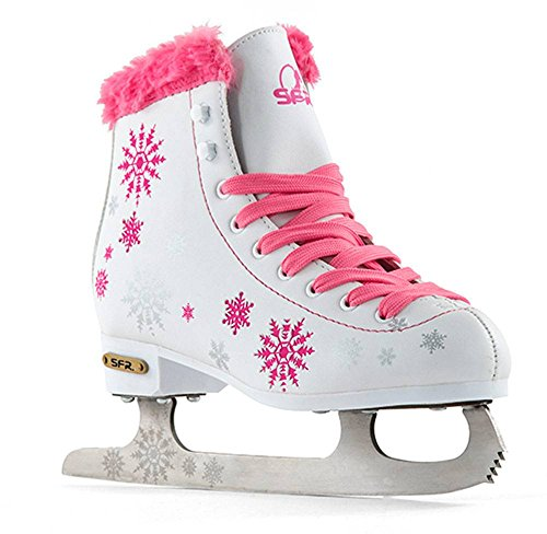 Sfr Skates SFR018, Pattini da Ghiaccio Unisex – Bambini, Rosa, 34