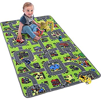 Softlife Kids Carpet Play Mat Rug 35  x 59  City Life Great for Playing with Cars Children Area Rugs for Bedroom Playroom Nursery