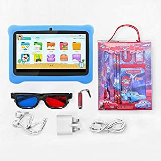 Lenosed Kids Tab4, Tablet 7 inch, Android 8.1.0, 16GB, 2GB DDR3, Wi-Fi, Dual Core, Dual Camera,with Stationary set (blue)