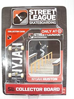 Street League Skateboarding Pro Series 1 Black Skateboard (#2) & Nyjah Huston Collector Card Target Exclusive by Ronin Syndicate