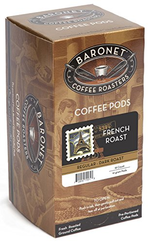 Baronet Coffee French Dark Roast 18Count Coffee Pods Pack of 3