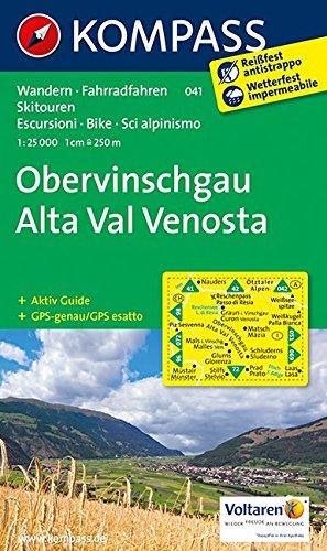 Obervinschgau - Alta Val Venosta: Wanderkarte mit Aktiv Guide, Radrouten und Skitouren. GPS-genau. 1:25000 (KOMPASS-Wanderkarten, Band 41)