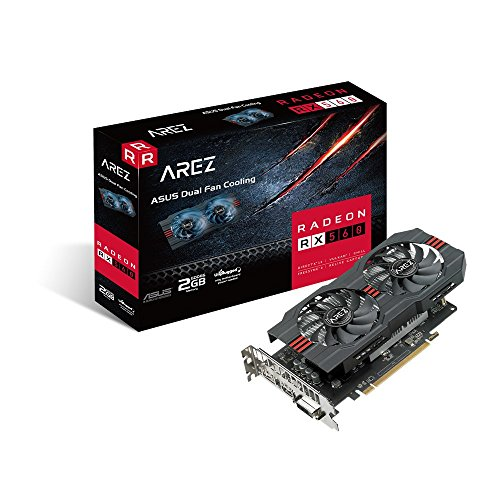 ASUS AREZ-RX560-2G-EVO Radeon RX 560 2 GB GDDR5 - Tarjeta gráfica (Radeon RX 560, 2 GB, GDDR5, 128 bit, 5120 x 2880 Pixeles, PCI Express x16 3.0)