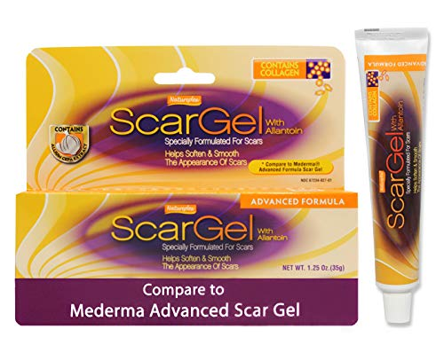 Natureplex Generic Mederma 1.25 Oz (35 g) Advanced Scar Gel with Allantoin and Bonus Lip Balm - Formulated to Reduce the Appearance of Injury, Burns, Surgery, and Acne Scars - Contains Collagen