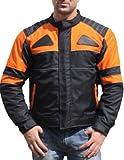 German Wear Textilien Jacke Motorradjacke Kombigeeignet Schwarz/Orange, Größe:L