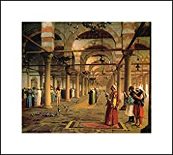 Jean Leon Gerome 18x16 Art Print - Public Prayer in The Mosque of Amr, Cairo