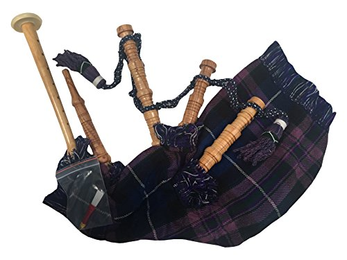 TARTAN TWEEDS Kids Junior Playable Bagpipes Pride Of Scotland