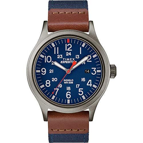 Timex Unisex – armbandsur expedition scout analog kvarts nylon bandet BLÅ