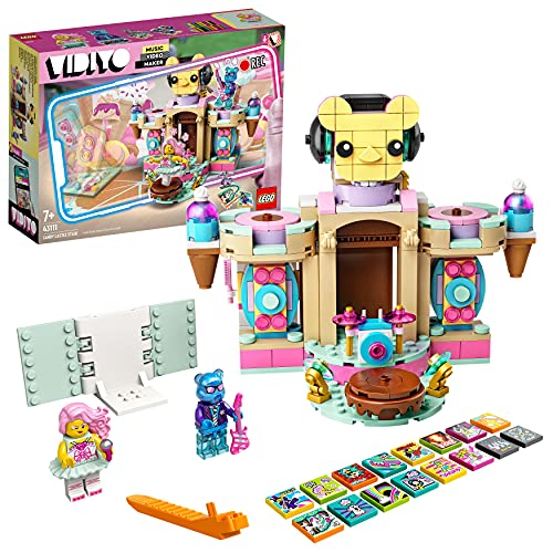 LEGO 43111 VIDIYO Candy Castle Stage, Creador de Vídeos Musicales de Juguete, App Realidad Aumentada, Set con Mini Figuras