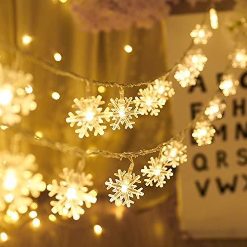Cadena de Iluminación de LED, Luces de Hadas de Copo de Nieve,...
