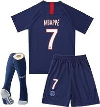 MBAPPE #7 Home Paris St Germain 2018-2019 Season Kids//Youth Soccer Jersey /& Shorts /& Socks Color Blue