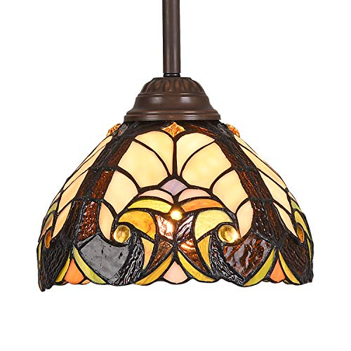 Tiffany Pendant Light fixtures Hanging Lamp Stained Glass Light Decor for Dining Living Room Kitchen Island Study Hallway