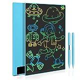 Tableta de Escritura LCD 11.5 Pulgadas, Pizarra Digital con Pantalla Completa Grande, Tablero de Dibujo Gráfico Portátil para Adultos, Juguete Infantíl para Niños de 3 4 5 6 7 Años (Azul)