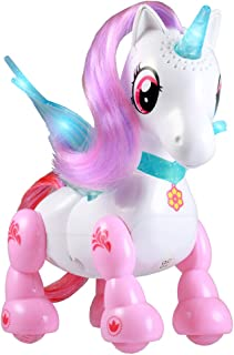 MIHUI Brand Show with Glittery Glowing Horn and Wings, Sounds and Interactive Movement Pony Unicorns,Your New Pet!Gift Toys for Children