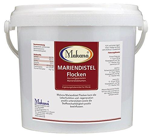Makana Mariendistel Flocken - Eimer, 1er Pack (1 x 5 kg)