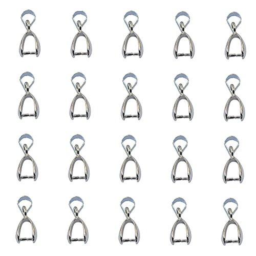 Generic Lote de 20 colgantes de color plateado para crear joyas artesanales, 12 mm