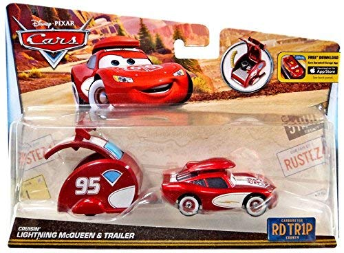 Disney Pixar Cars Road Trip (RDTR1P) Crusin Lightning McQueen and Trailer