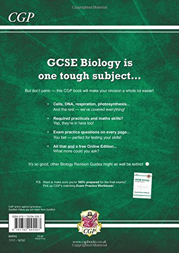 Grade 9-1 GCSE Biology: AQA Revision Guide with Online Edition - Higher: unbeatable revision for mocks and exams in 2021 and 2022 (CGP GCSE Biology 9-1 Revision)