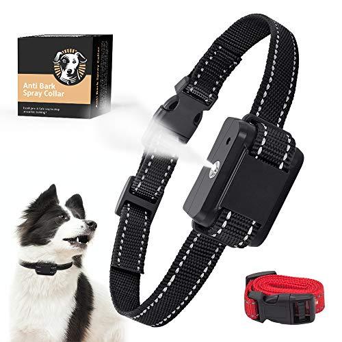 Queenmew — Collar Antiladridos, Collar Anti-Ladridos con Spray AutomÁTico para Perros, Dispositivo Adiestramiento Perros Recargables y Seguros, Sensibilidad y Volumen Ajustables