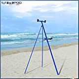 Evo3POD - Tripode Doppia Canna Basic 150 cm Tripode Basic in Alluminio da 150 cm già doatto di Doppia Staffa di Conversione a Doppia Canna con Jolly (Blue)