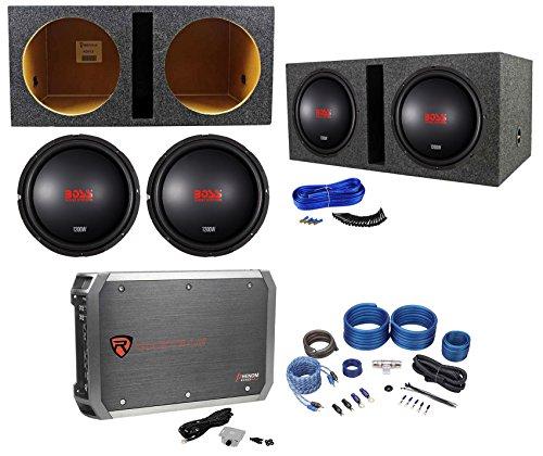 "(2) Boss Audio CXX124DVC 12"" 2400w Subwoofers+Vented Box+Mono Amplifier+Amp Kit"