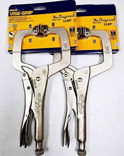Made in USA The Original 11SP Vise Grip Locking Clamp with Swivel Pads, 2-Pack