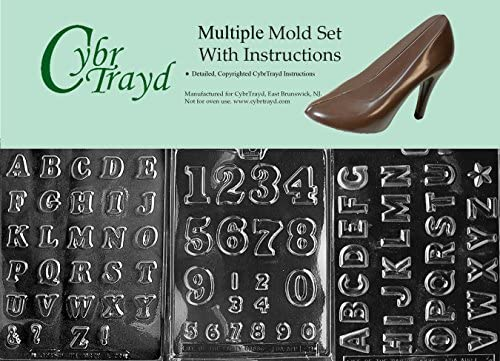 Cybrtrayd 3 Piece Numbers and Letters Chocolate Molds product image