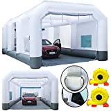 GORILLASPRO Inflatable Paint Booth 30x16x11Ft,Inflatable Spray Booth with...