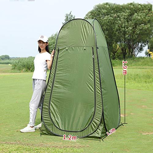 Vinteky Tente de Douche Pliage Pop Up Cabine de Changement Toilette Vêtement Portable Tente Privée douche Camping Abri de Plein Air Vestiaire Extérieure Intérieure+Sac de transport