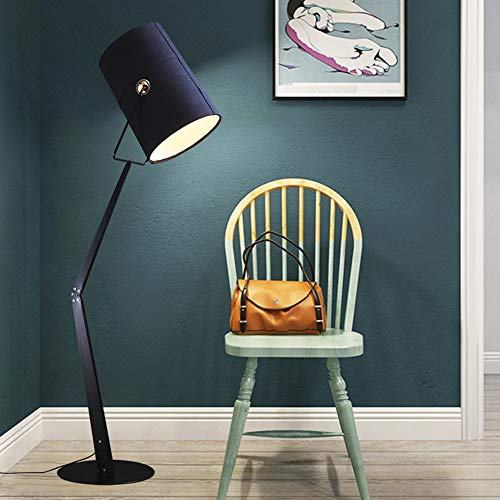 JAYLONG Floor Lamp, Modern Classical Tall Pole Standing Light, Decorative Lamps For Living Room, Office, Bedroom, Den, Dorm,Black steampunk buy now online