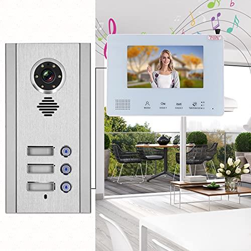 Portero automático, video Timbre de la puerta Intercomunicador manos libres Multifunción LCD TFT a color de 7 pulgadas Funcionamiento sencillo Modo de conexión de cable flexible para