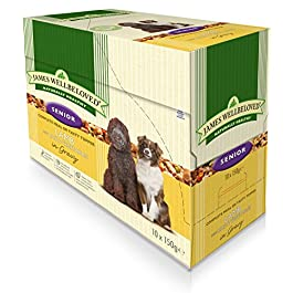 40 x 150g James Wellbeloved Senior Lamb and Rice Pouches Multibuy