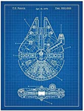 Inked and Screened Star Wars Millennium Falcon Design Patent Art Poster 18