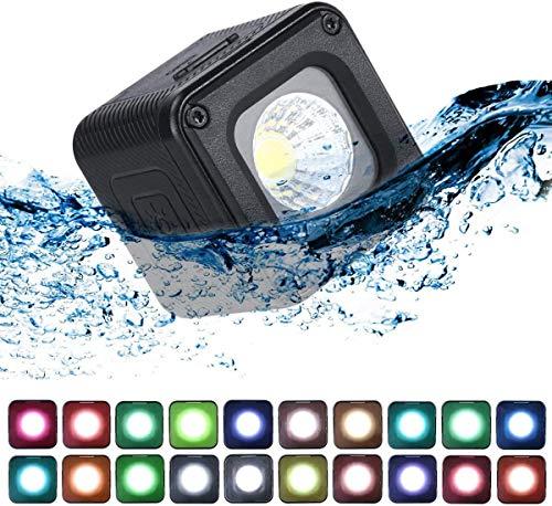 Pro Mini LED Video Light Waterproof W 20 Filtros de Color para GoPro, cámaras, Bolsillo OSMO, OSMO Action, DSLR Video Shooting Iluminación Creativa Ultra Brillante Recargable