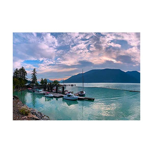 Enovoe Jigsaw Puzzles 1000 Pieces for Adults – an Evening in Vancouver –...