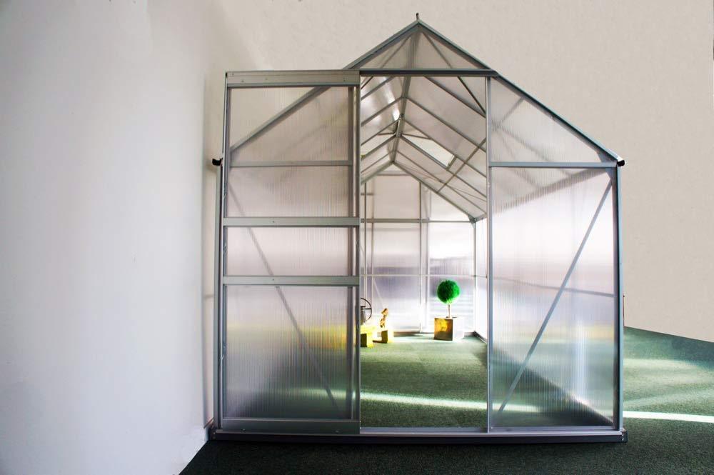 Chalet-Jardin - Invernadero de policarbonato (Diamante, 8, 2 m²): Amazon.es: Jardín