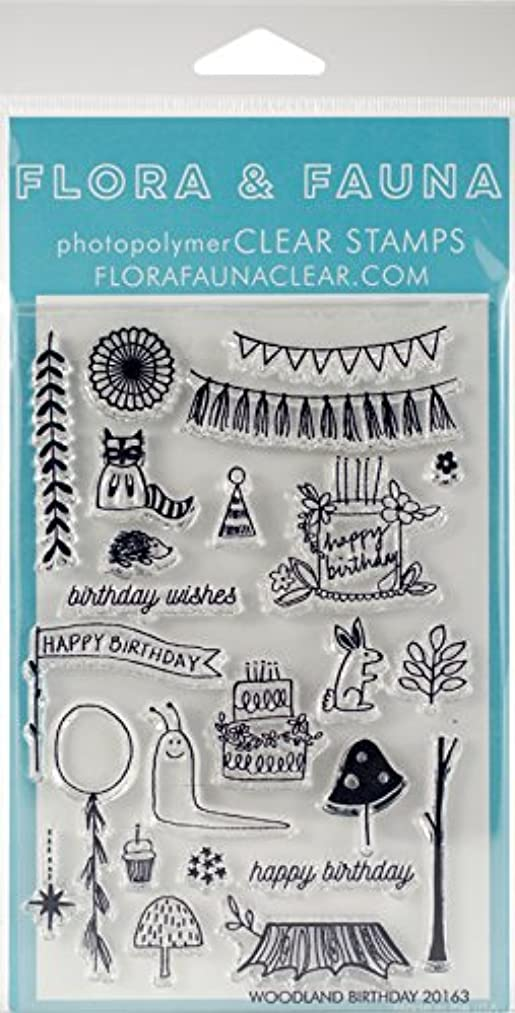 Flora & Fauna Woodland Birthday Clear Stamps 4
