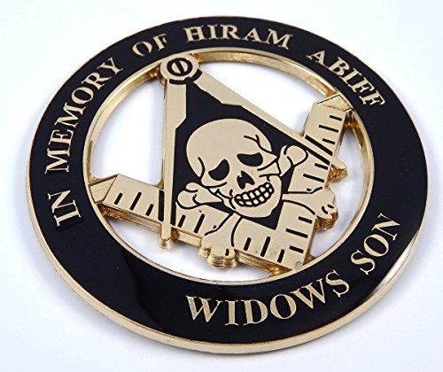 "Masonic in Memory of Hiram Abiff Widows Son 3"" Metal car Emblem 3D Decal MAS12"