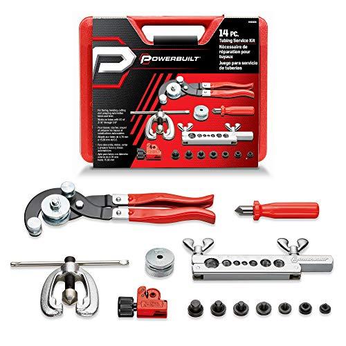 Powerbuilt 14 Pc. Master Tubing Service Kit,Tube Cutter, Bender, Flaring Tool