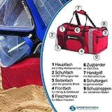 """VERGLEICHSSIEGER: Premium Sporttasche """"Sporty Bag"""" von Sportastisch :: Farbe: ROT :: mit Schuhfach, Tragegurt und Trinkflaschen-Halter :: hochwertiges Nylon garantiert beste Atmungsfähigkeit :: Exklusives Design für Damen, Herren und Kinder:: extra groß mit 35L Fassungsvermögen :: lange Lebensdauer dank hochwertiger Verarbeitung :: Ideal als Sporttasche, Fitnesstasche und Reisetasche :: 3 Jahre Premium Sportastisch Garantie - 3"""