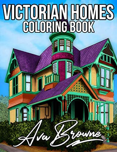 Victorian Homes Coloring Book Victorian House Coloring Book An Adult Coloring Book With Beautiful product image