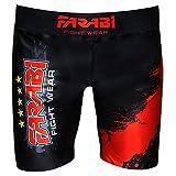 Farabi MMA Vale Tudo - Pantalones Cortos de Entrenamiento de compresión (Talla XL)
