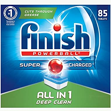 Finish - All in 1-85ct - Dishwasher Detergent - Powerball - Dishwashing Tablets - Dish Tabs