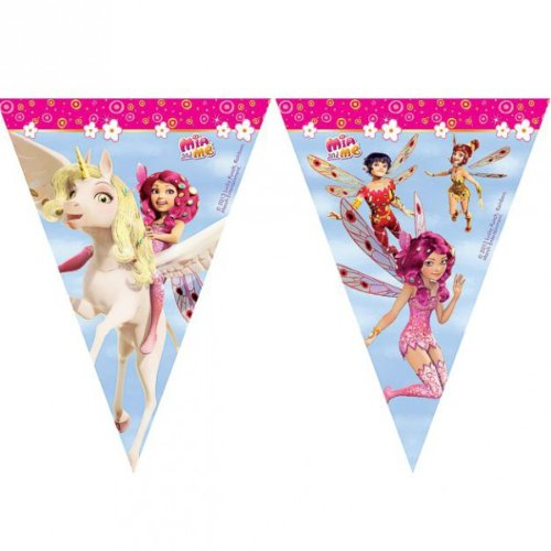 Mia and Me Wimpel-Kette | Girlande Banner 2,30 m Kinder Party Geburtstag