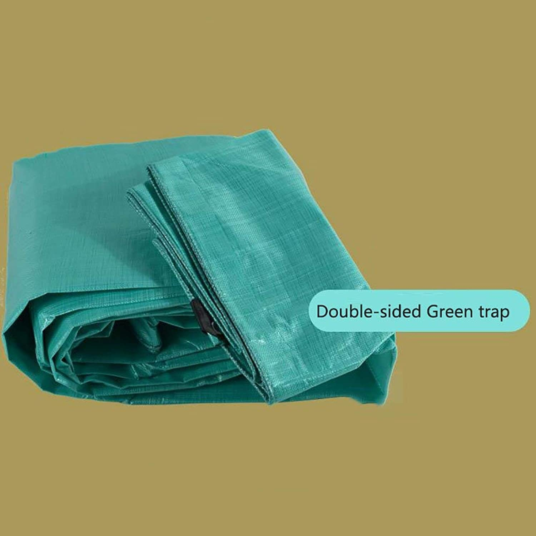 Shade Cloth, Waterproof Rainproof Heavy Duty Tarpaulin Trap Ground Sheet Covers Shed Cloth Thicken PE Sunscreen Tent Splice Awning Sun Shade Visor Outdoor InsulationGreen,150G  M2 (Size   4  8m)