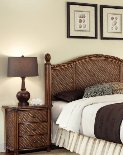 Marco Island Cinnamon Queen/Full Headboard & Night Stand by Home Styles