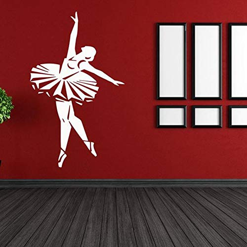 Tianpengyuanshuai Wandtattoo Balletttänzer Tanzraum Aufkleber Kinderzimmer Home Decoration Vinyl Wandaufkleber 85X52cm