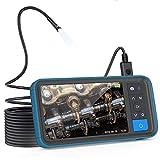 Anykit内視鏡カメラ デュアルファイバースコープ SDカード対応式内視鏡 4.5インチIPSモニター 防水・防塵規格IP67 1080P画質 内視鏡 先端側面可視化スネークカメラ 工具ケースファイバースコープ 管内観察、車修理保養、エアコン検査対応 (5m-8mm)