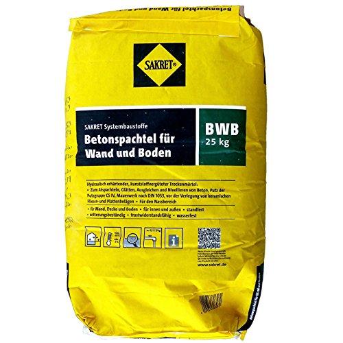25 Kg Sack SAKRET Betonspachtel BWB für Wand und Boden Spachtelmasse